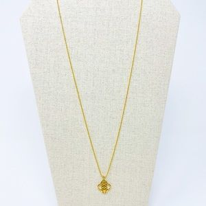 STELLA & DOT Long Gold Necklace Charm Dainty Layer